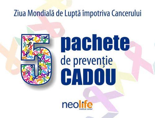 5 pachete de preventie cadou Neolife – Ziua Mondiala de Lupta Impotriva Cancerului